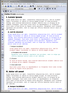 Outline 4D: text colour by level